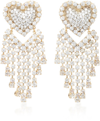 Shourouk Love You In The Galaxy Gold-Tone, Crystal And Pearl Earrings