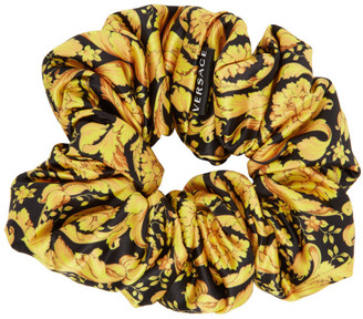 Versace Black and Gold Barocco Scrunchie