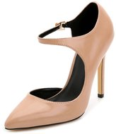 CAMSSOO Women Ladies Stiletto High Heel Shoes Ankle Strap Pointed Toe Dress Pumps Soft PU 8.5 US M