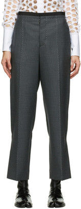 Maison Margiela Grey and Black Wool Check Trousers