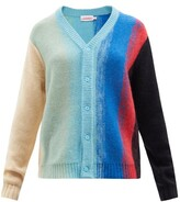 Thumbnail for your product : Charles Jeffrey Loverboy Homefront Striped Knit Cardigan - Blue Multi