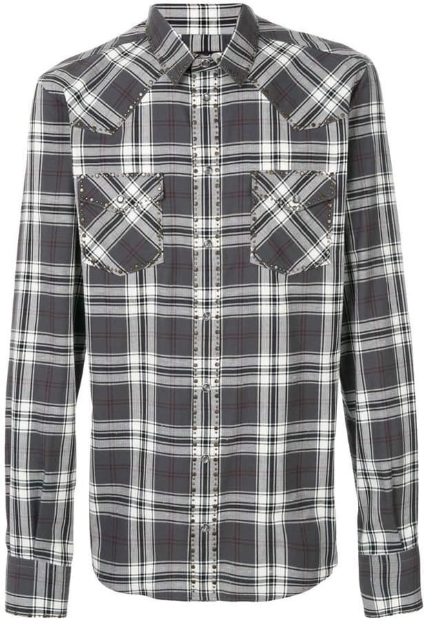 Dolce & Gabbana checked studded shirt