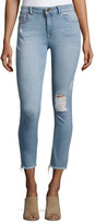 DL1961 Farrow Instaslim High-Rise Skinny Ankle Jeans with Raw Hem, Trophy