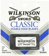 Schick Wilkinson Sword Double Edge Razor Blade Refills for Men - 5 Count