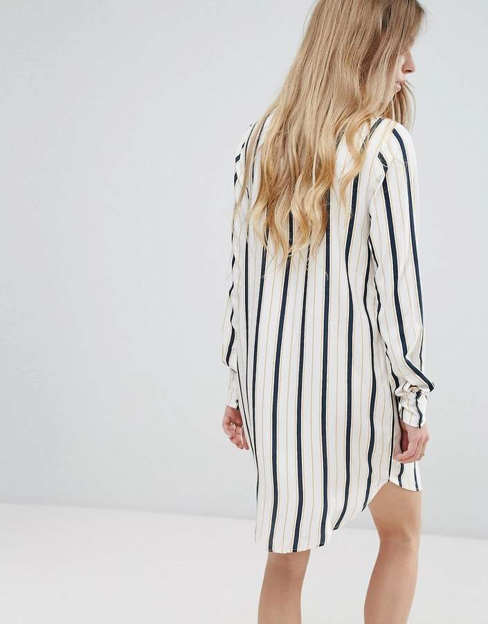 Vila Stripe Shirt Dress