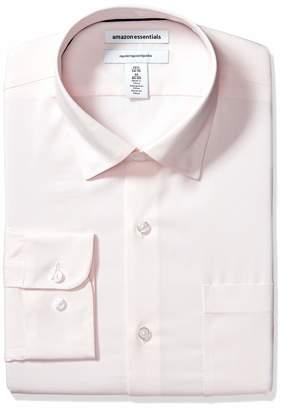 "Amazon Essentials Regular-fit Wrinkle-resistant Stretch Dress Shirt Pink 17"" Neck 36""-37"" Sleeve"