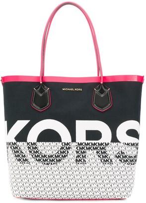 MICHAEL Michael Kors logo print shopper tote