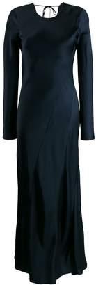Semi-Couture Semicouture draped evening dress