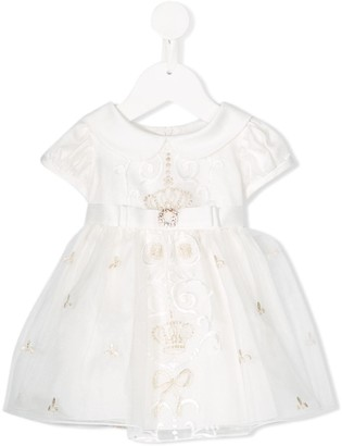 Lesy embellished short-sleeve dress