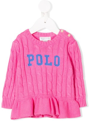 Ralph Lauren Kids Logo Cable Knit Jumper