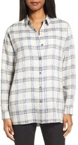 Nordstrom Women's Oversize Plaid Linen Shirt