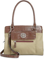Giani Bernini Croc-Embossed Satchel, Created for Macy's