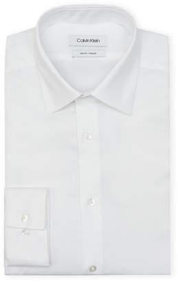 Calvin Klein White Textured Slim Dress Shirt