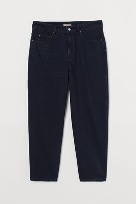 H&M H&M+ Tapered High Jeans - Blue