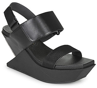 United Nude DELTA WEDGE SANDAL women's Sandals in Black