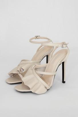 Topshop ROSIE Ivory Frill Ankle Tie Heels
