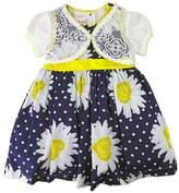 Nannette Toddler Girl Floral Dress & Lace Shrug Set