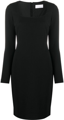 HUGO BOSS Dineka fitted long-sleeved midi dress