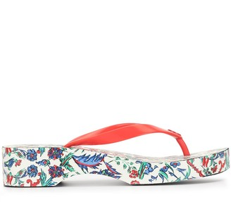 Tory Burch Cut-Out Wedge Flip-Flop