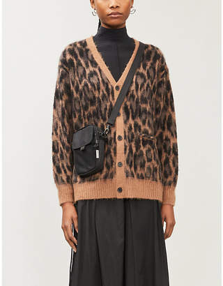 FIVECM Leopard-print knitted cardigan