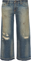 Simon Miller Baltic distressed mid-rise wide-leg jeans
