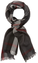 """Burberry Lightweight Check Wool & Cashmere Scarf, 79"""" x 18"""""""