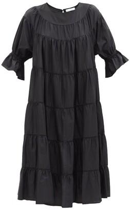 Merlette New York Paradis Tiered Cotton Sun Dress - Womens - Black