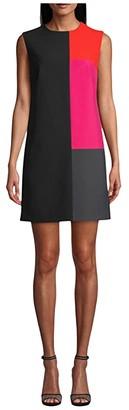 Nicole Miller Stretchy Tech Color-Block Dress (Multi) Women's Clothing