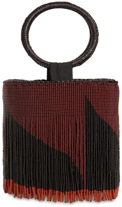 Sensi Mini Bucket Bag W/ Beaded Fringes