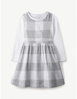 The Little White Company Checked pinafore and T-shirt set 1-6 years