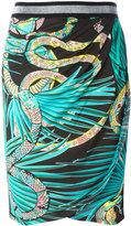 Just Cavalli snake patterned skirt - women - Viscose - 44