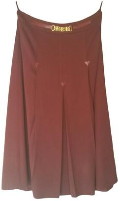 Celine Burgundy Wool Skirt for Women Vintage