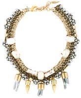 Assad Mounser Multistrand Quartz and Crystal Necklace