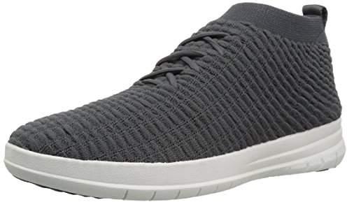 FitFlop Men's Uberknit HIGH TOP Sneaker Waffle Knit Trainers,(45 EU)
