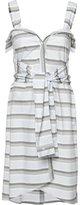 Derek Lam 10 Crosby tied waist striped dress - women - Cotton - 0