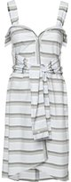 Derek Lam 10 Crosby tied waist striped dress - women - Cotton - 6