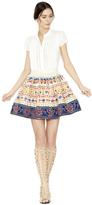 Alice + Olivia Tania Embroidered Full Pouf Short Skirt