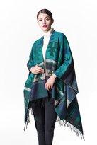 JURUAA Plus Size Knitted Poncho Sweater Shawls Wraps Cape Ruana Coat
