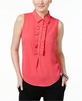 Tommy Hilfiger Sleeveless Ruffled Shirt
