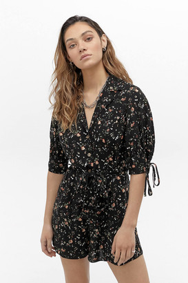 Urban Outfitters Alice Floral Button-Front Romper