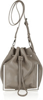 Scout textured-leather drawstring bag