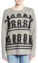 Current/Elliott Women's 'The Jacquard Fringe' Wool Sweater