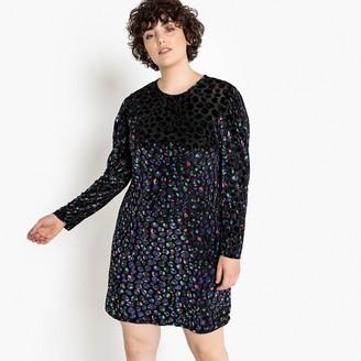 Castaluna Plus Size Animal Print Devore Velvet Dress