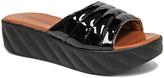 Black Stitched Platform Sandal