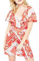 Miss Selfridge Petite Ruffle Dress, Red