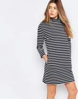 Wood Wood Mary Stripe Dress In Navy Stripe