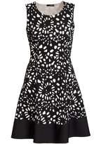 Quiz Cream And Black Flower Skater Dress