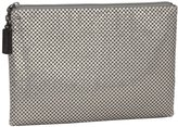 Whiting & Davis Large Pouch Clutch - Pewter