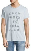 Sol Angeles Fold Them Graphic T-Shirt, Light Blue