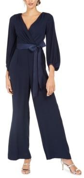 Eliza J Tie-Belted Jumpsuit